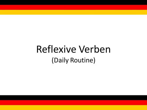 German Resources:  Reflexive Verben