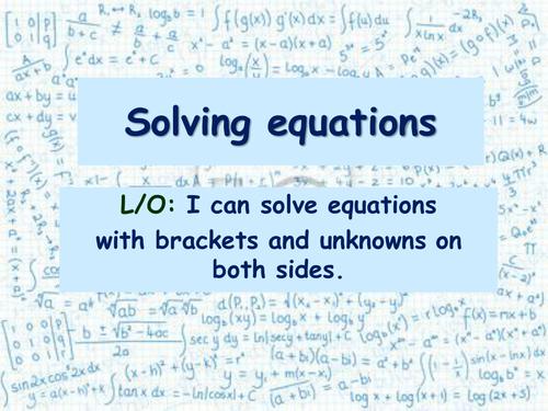 Algebra: Inequalities 2 - Solving Inequalities (solving equations) + ...