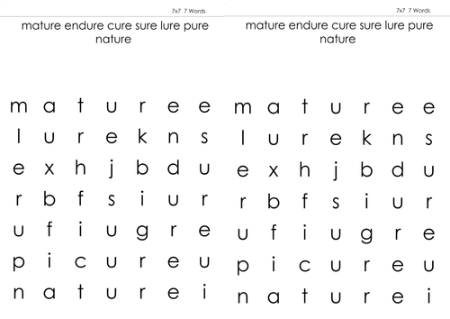 Ure Sound Wordsearch By Sophielclark Teaching Resources Tes
