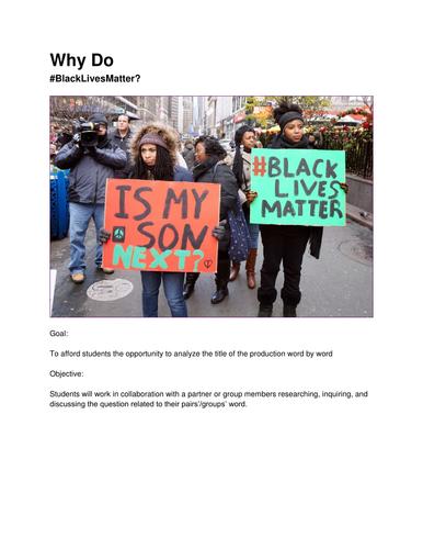 Why Do #BlackLivesMatter