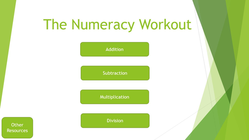 The Numeracy Workout - Addition, Subtraction, Multiplication and Division
