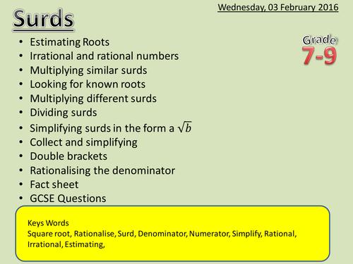 Number System Mep Gcselesson Plan Worksheet By Cimt Teaching
