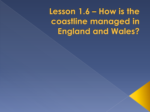 Geogrphy Managing coasts