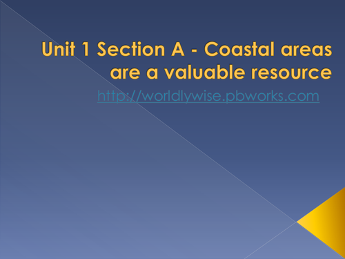 Geogrophy - Coastal areas are valuable