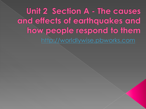 Geography - Earthquakes