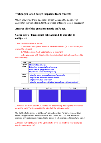Computing Cover one off lesson resources (KS3 and KS4)