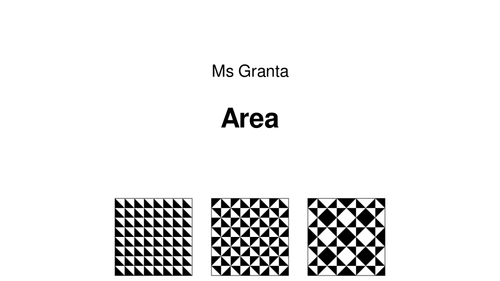 Introduction to Area and Area of Rectangles
