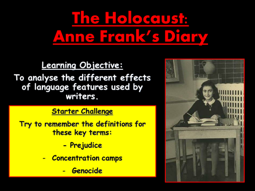 holocaust assignment