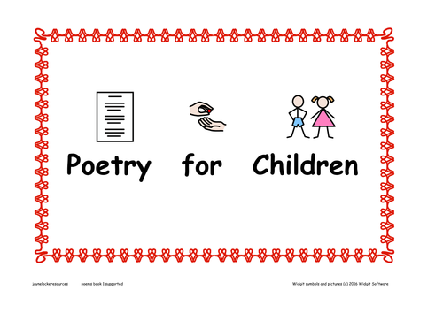 Poems for Children ( Symbol Supported)