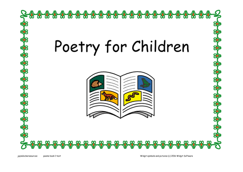Poems for Children ( text version)