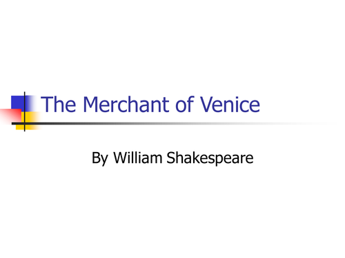 """The Merchant of Venice"" - Shylock"