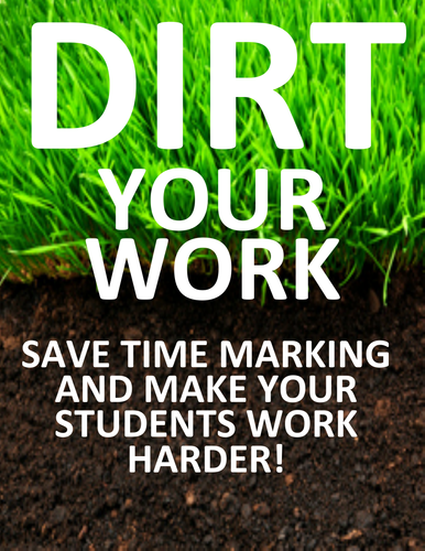 DIRT Work Bundle - Save Time Marking and Make it More Worthwhile!