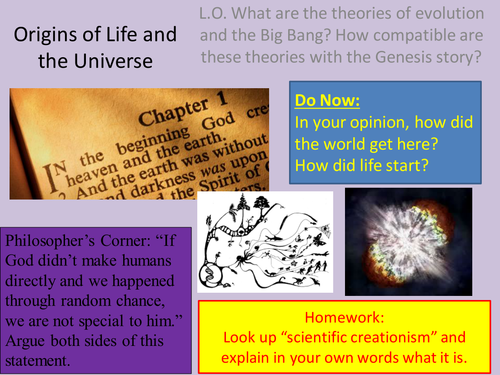 a report on the theory of evolution