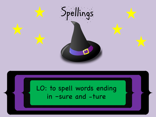 Year 3 and 4 Spellings (SPaG): Words with endings sounding like -sure and -ture