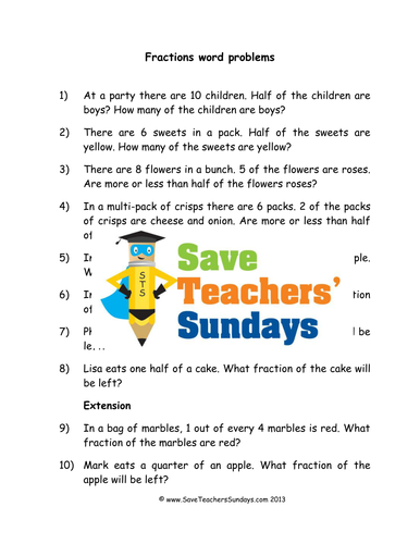 fractions word problems ks1 worksheets lesson plans and model by saveteacherssundays teaching. Black Bedroom Furniture Sets. Home Design Ideas