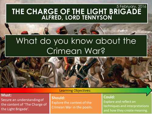 how conflict is presented in charge of the light brigade