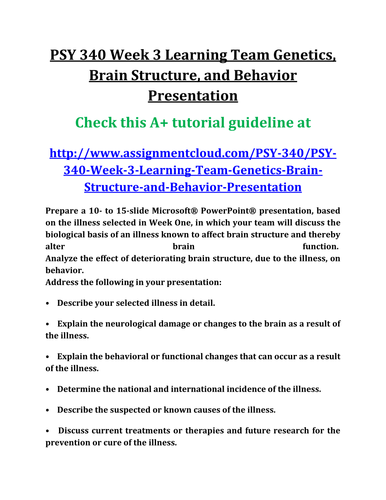 psy 340 brain structures and functions