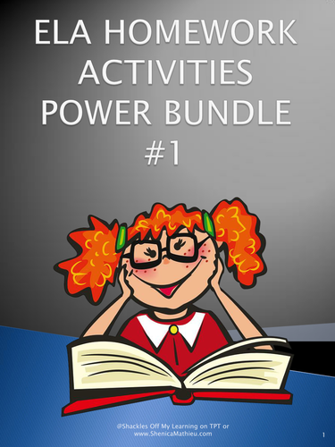 ELA Homework Activities Power Bundle #1 (Common Core Aligned - No Prep)