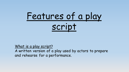 Fairy Tales as Play scripts by nigel burgham | Teaching