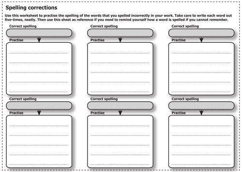 assessment spelling correction worksheet by informingeducation teaching resources tes. Black Bedroom Furniture Sets. Home Design Ideas
