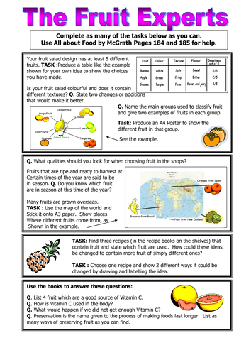 Food Technology / Food and Nutrition KS3 cover lessons