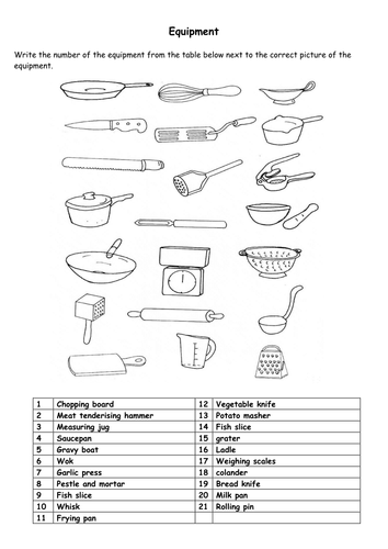 Food and Cookery KS3 - Staple foods work booklet