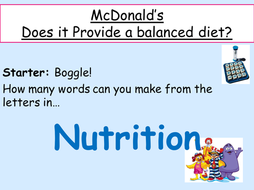 Balanced Diet - Food tests on McDonald's