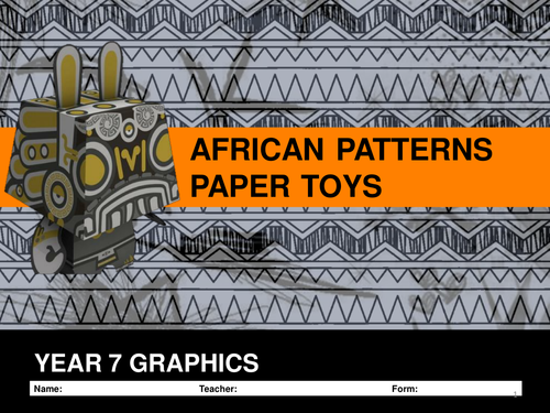 GRAPHICS PROJECT KS3  AFRICAN PATTERNS