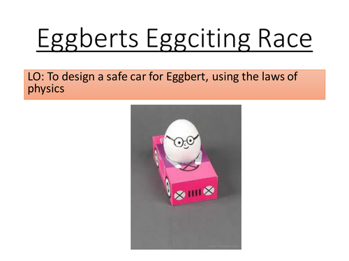 Car Safety activity - Design a car for Eggbert
