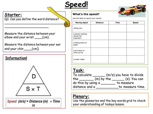 SEN Key Stage 3: Speed