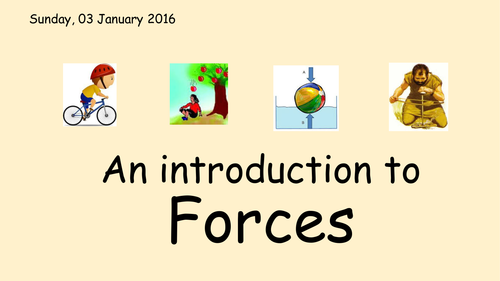 Science - Forces (five ppts to support a unit on forces)