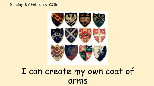 Creating my own Coat of Arms