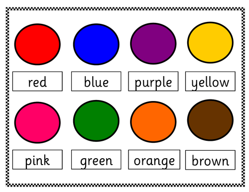 Colour Match Board Word To Colour 11211350 on Easter Worksheets Kindergarten Sign