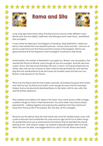 A child-friendly version of the Rama and Sita story.