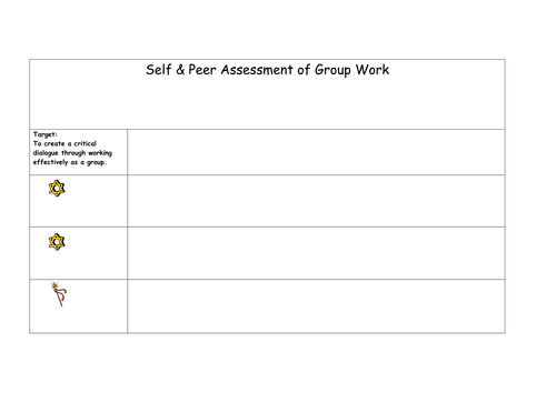 how to write a self assessment template