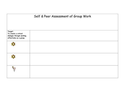 Peer self assessment template by ljj290488 Teaching Resources TES – Self Assessment Template