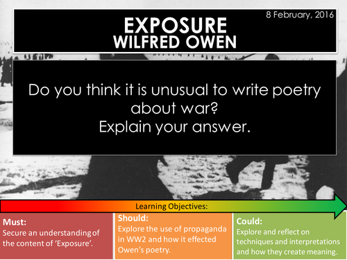 Exposure - Wilfred Owen (Edexcel Conflict Poetry Cluster GCSE 1-9)