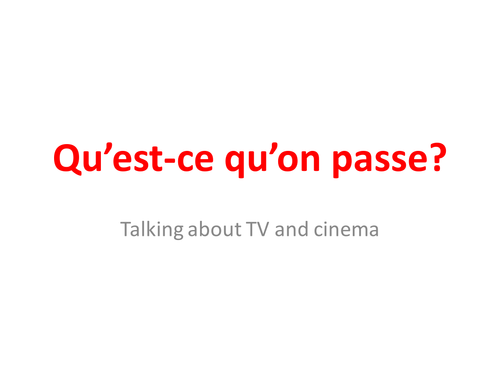 TV programmes & films in French