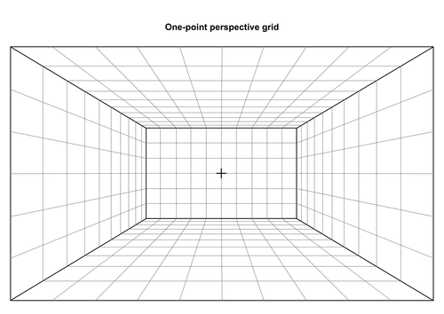 One point perspective grid by informingeducation for Room design template grid