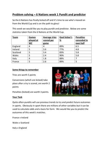 6 Nations Rugby Week 1 - Pundit and Predictor