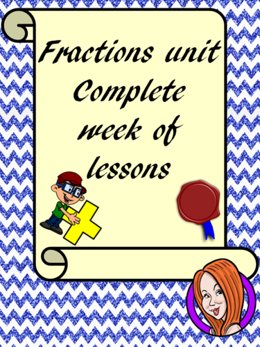 Fractions  - Complete Week of Lessons
