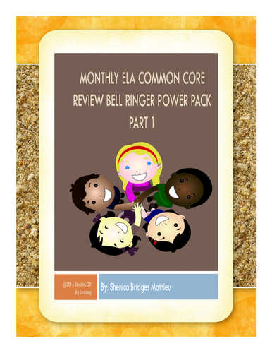 ELA Bell Ringer and Warm Up Power Pack