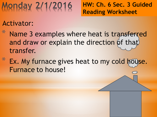 6.3 Heat Phase Changes PowerPoint and Guided Notes