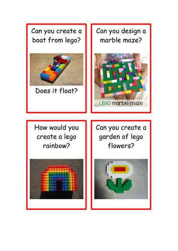 Lego Challenge Cards | Teaching Resources