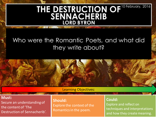 The Destruction of Sennacherib - Lord Byron (Edexcel Conflict Poetry Cluster GCSE 1-9)