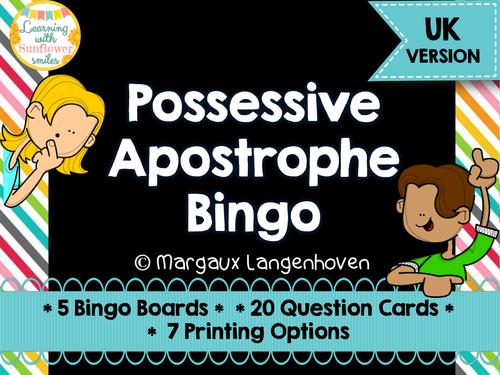 Possessive Apostrophe Bingo