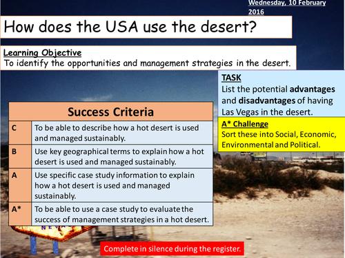 Desert in an MEDC - Mojave Desert