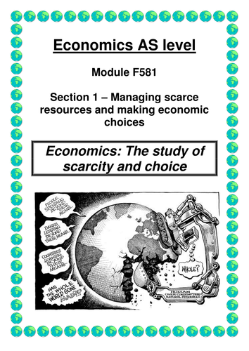 OCR A LEVEL ECONOMICS Unit 1 Booklet 1