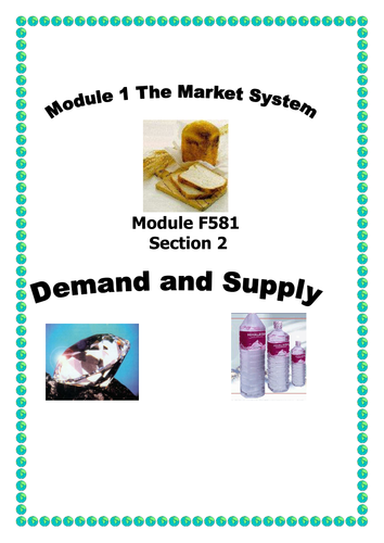 OCR A LEVEL ECONOMICS Unit 1 Booklet 2 The Market System