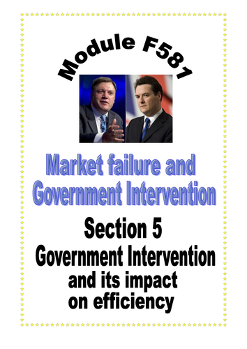 OCR A LEVEL ECONOMICS Topic 1 Booklet 5 Government Intervention